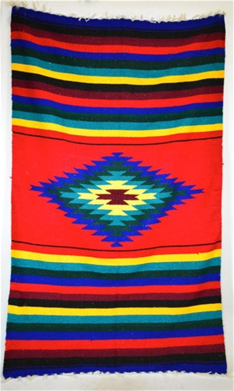 mexican rugs and blankets large geometric starburst woven southwestern mexican blanket rug 83 quot x 49 quot 158 00 via etsy
