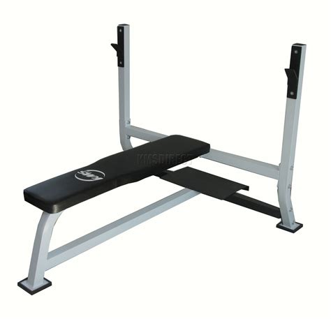 bench barbell home gym flat barbell bench for 7ft olympic standard weight bar chest press ebay