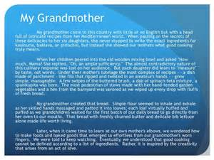 My Grandmother Essay by Descriptive Essay On My Grandmother Reportz311 Web Fc2