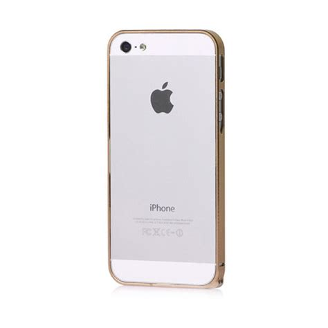 Iphone 5 5s Gold White Casing Bumper Cover Bagus plasma bumper dimoglass gild your iphone touch of modern