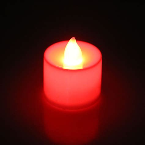 colorful candles 24pcs flameless battery operated led tea light candles
