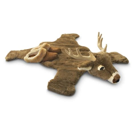 how to make a rug out of deer hide plush deer rug 173396 toys at sportsman s guide