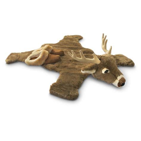 stuffed animal rug plush deer rug 173396 toys at sportsman s guide