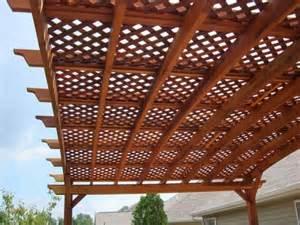 lattice pergola pictures and ideas
