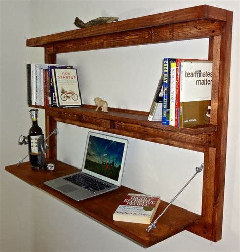 Fold Out Shelf by Rustic Wall Mounted Fold Out Desk With Shelves Bookcase