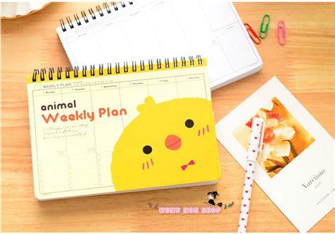 Buku Agenda Planner Notebook Custom 12 jual buku tulis catatan agenda diary schedule weekly planner notebook lucu mumu moe shop