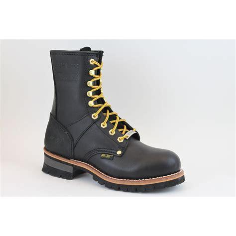 adtec boots adtec s 9 quot steel toe logger boots black 1428 wide