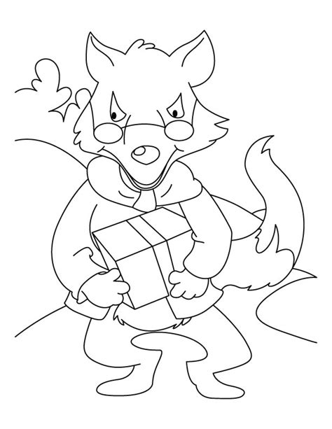Wolf Blowing Colouring Pages Big Bad Wolf Coloring Page