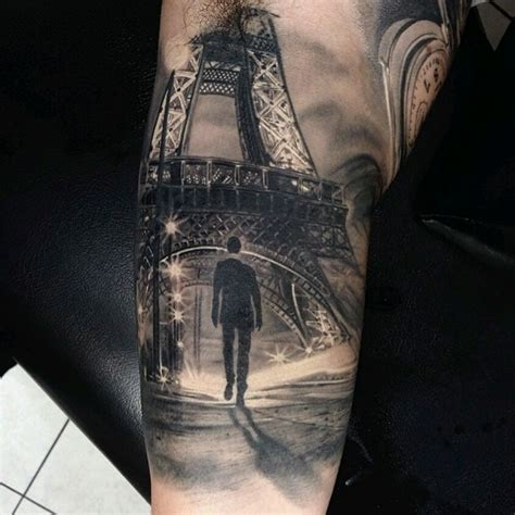 paris tattoos photo real streetscape of favorite