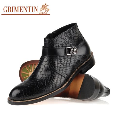 mens designer black boots aliexpress buy high top designer leather boots