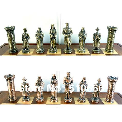 theme chess sets international metal chess crusader theme chess set in