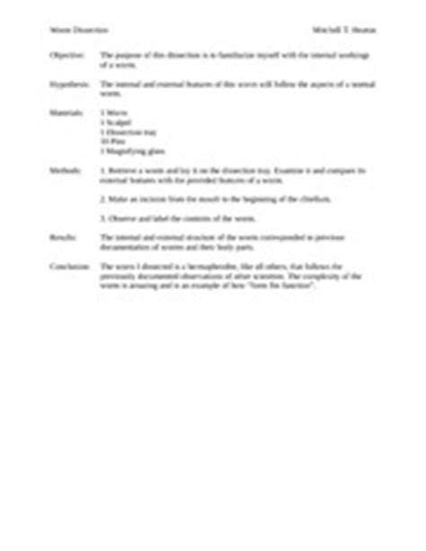 earthworm dissection lab report answers clam dissection lab report 3 continue to dissect and