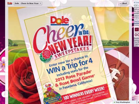 new year dole dole cheer in the new year sweepstakes