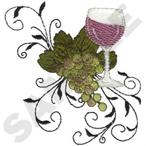 embroidery design wine glass dakota collectibles embroidery design wine glass w swirls