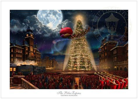 how to make a polar express paper christmas tree the polar express kinkade paper edition at treasures