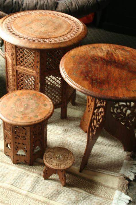 handcarved indian table  mollysridge  etsy dream