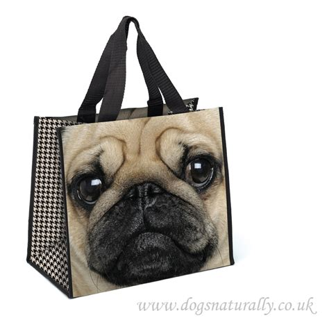 pug gift bag catseye pug shopper bag lover gift dogs naturally