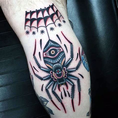 traditional spider tattoo 50 traditional spider designs for webs of