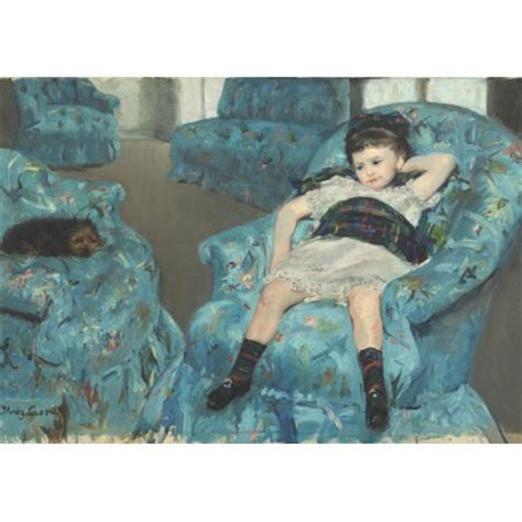 little girl in the blue armchair puzzle mary cassatt little girl in a blue armchair 1878