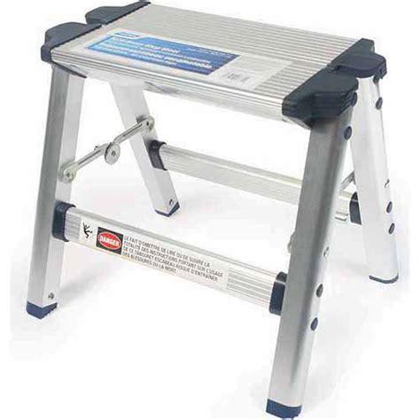 rv step stool camco aluminum folding step stool with plastic
