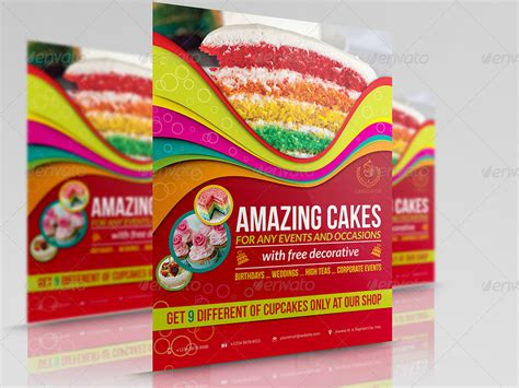 cake flyer template free cake flyer template vol 4 by owpictures graphicriver