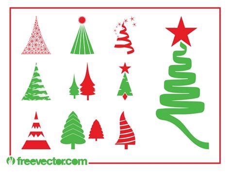 christmas trees graphics set vector art graphics
