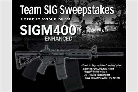 Sig Sauer Sweepstakes - sig sauer sigm400 enhanced sweepstakes recoil