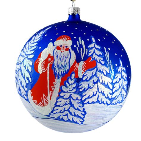 quot russian santa quot hand painted christmas ball ornament ebay
