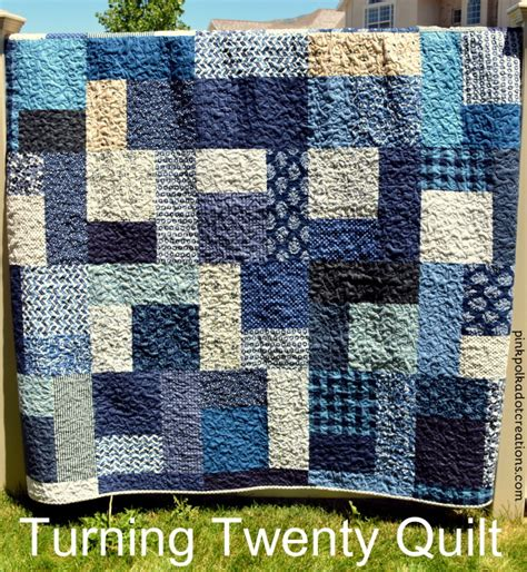 quilt pattern turning twenty blue turning twenty quilt pink polka dot creations