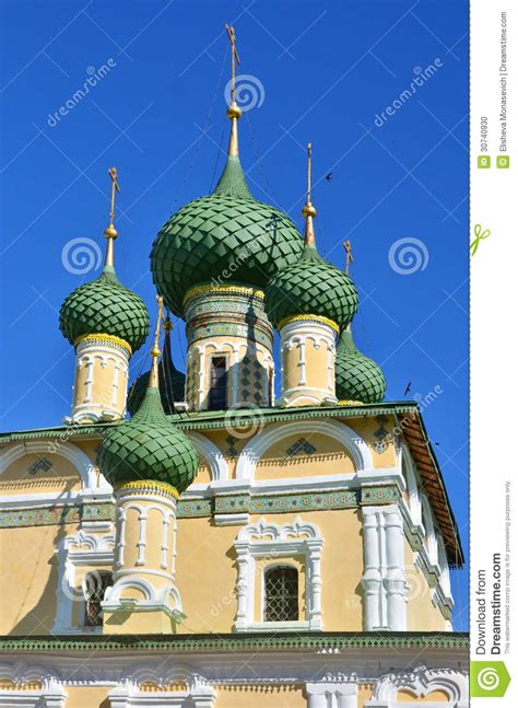 Cupola Tower Towers And Golden Cupolas Of Church In Russia Stock Photo