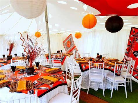 traditional decor orange and black traditional wedding decor at shonga