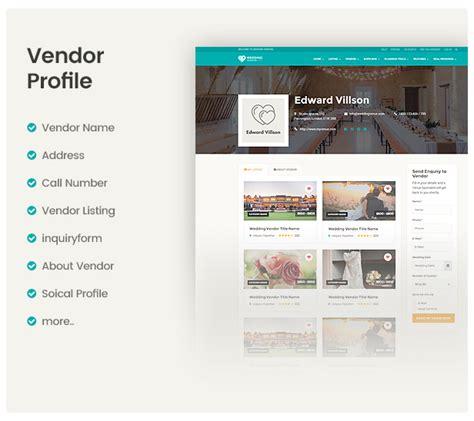 theme wordpress vendor vendor directory wordpress theme wedding vendor by