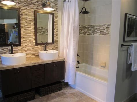 tile accent wall bathroom bathroom