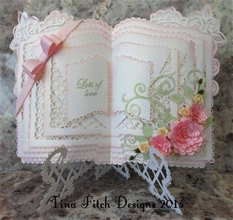 open book easel card template make the cut template layered book stand card 163 5 00