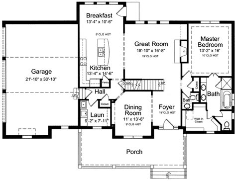 Lovely Two Story Home Plan 39122st 1st Floor Master Two Story House Plans Bonus Room