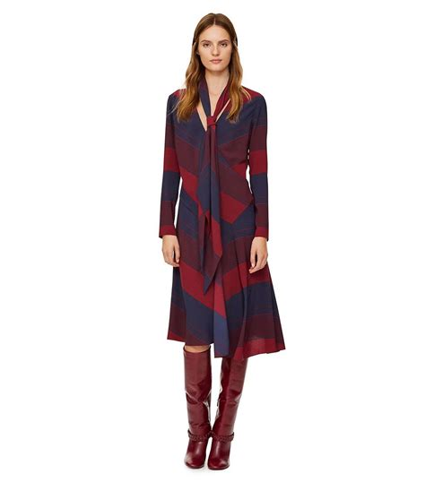 fashion icon tory burch s stunning home decor home decor lyst tory burch crepe tie neck bias cut dress in blue