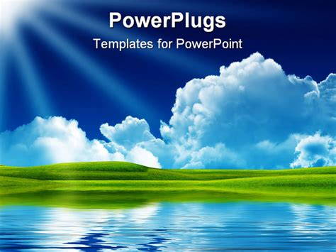 landscape layout powerpoint powerpoint template landscape of nature with clouds sun