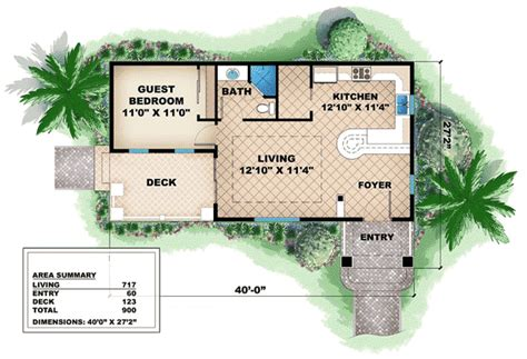 rest house design floor plan quaint cottage guest house 66262we architectural