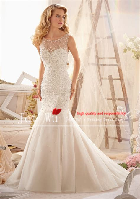 organza plain white wedding dresses satin lace mermaid wedding dress simple plain