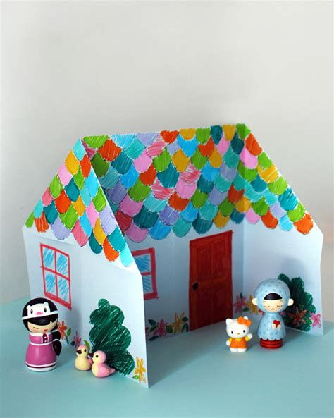 How To Make A 3d House With Paper - make an adorable origami doll house