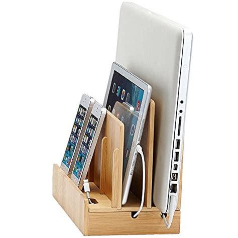 the g u s bamboo multi device charging station and dock with great useful stuff eco friendly bamboo multi device