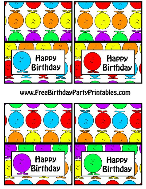 birthday labels template free free gumball birthday printables free birthday printables