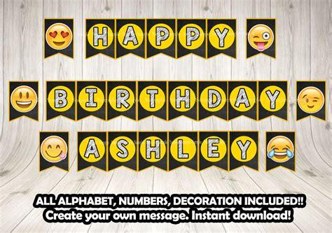 printable emoji banner emoji banner all alphabet numbers decorationsleon
