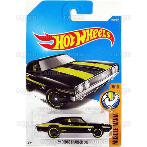 Wheels 69 Dodge Charger 500 Mania Yellow hw basic camco toys