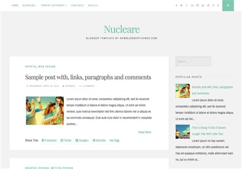 nucleare simple blogger template blogspot templates 2018
