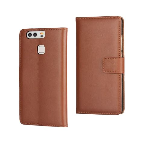 Genuine Leather huawei p9 genuine leather wallet brown