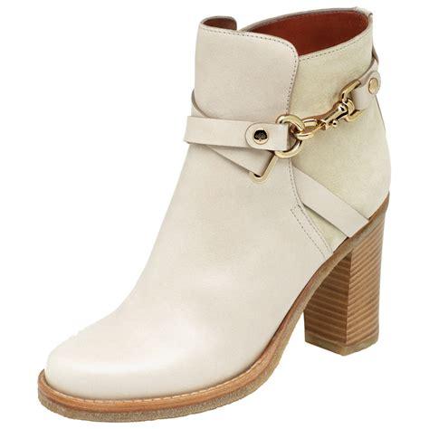 high heeled bootie mulberry dorset summer high heel bootie in white lyst