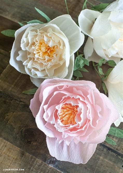 Flowers Out Of Crepe Paper - 17 best ideas about crepe paper crafts on