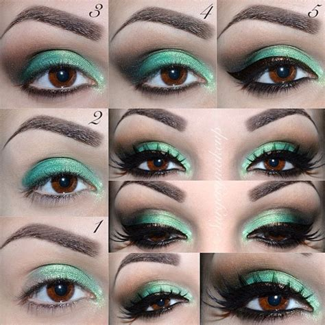tutorial eyeshadow green green eyeshadow tutorial www imgkid com the image kid