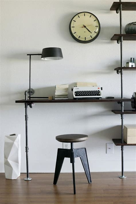 Industrial Style Office Desk Industrial Eye 40 Pipes Home Decor Ideas Digsdigs